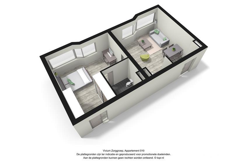 Vivium Godelinde - 2 kamer appartement (010 3d)