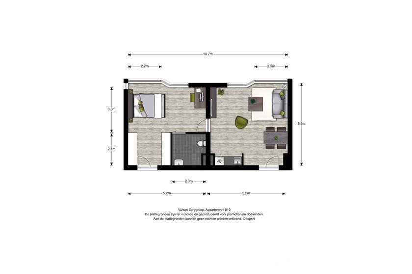 Vivium Godelinde - 2 kamer appartement (010)