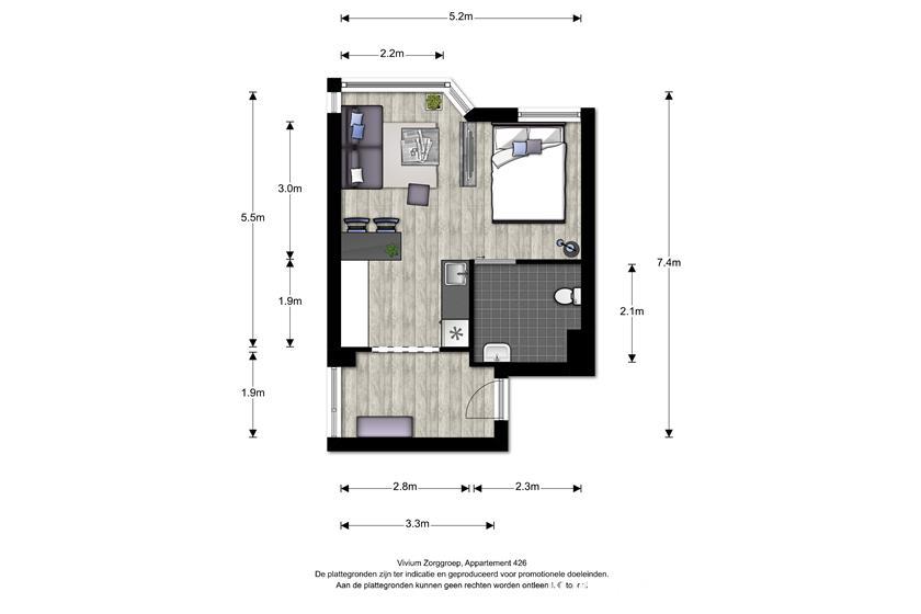 Vivium Godelinde - hoek appartement (426)