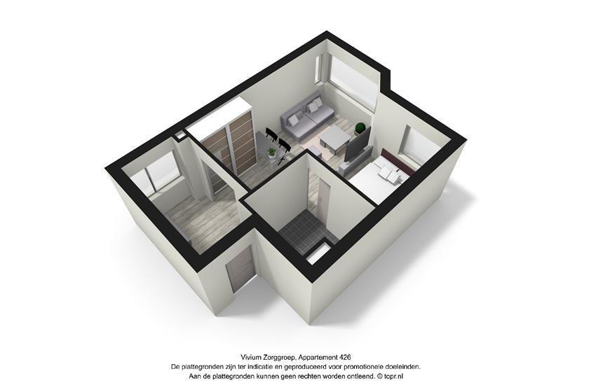 Vivium Godelinde - hoek appartement (426 3d)