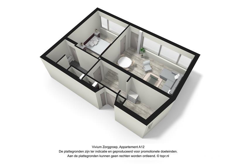 Vivium De Gooise Warande - 2 kamer appartement 55-56m² (A12 3d)