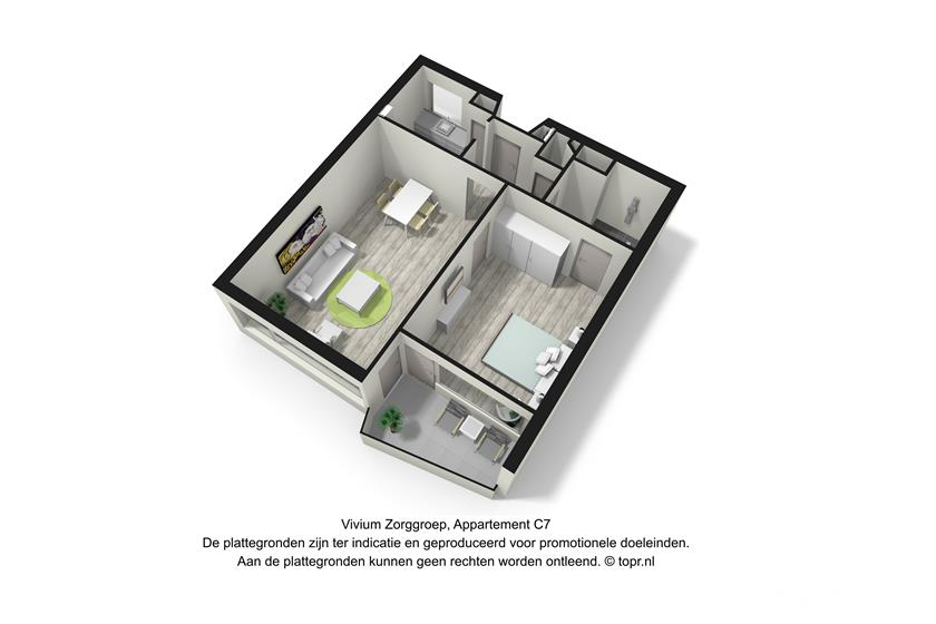 Vivium De Gooise Warande - 2 kamer appartement 55-56m² (C7 3d)