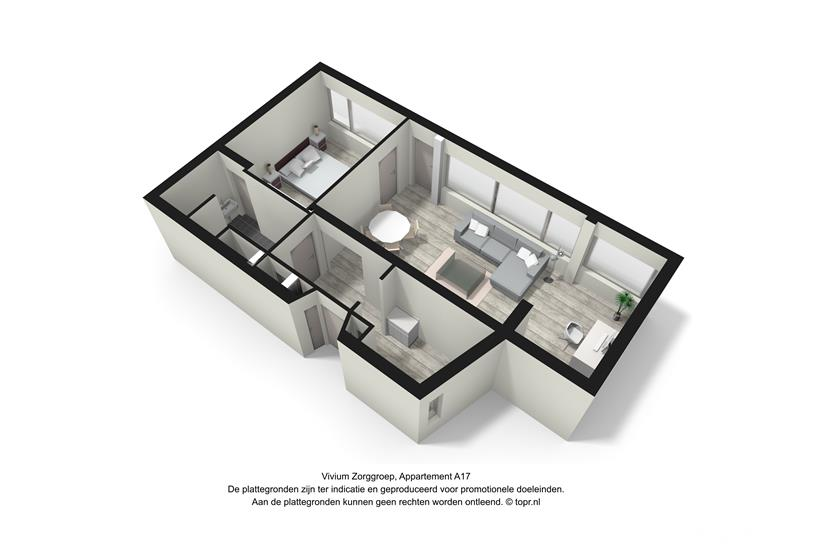Vivium De Gooise Warande - 2 kamer appartement 62m² (A17 3d)