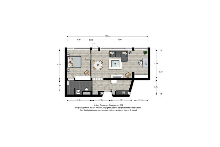 Vivium De Gooise Warande - 2 kamer appartement 62m² (A17)