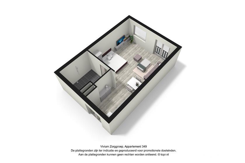Vivium Oversingel - ruim 1 kamer appartement 39-47m² (349 3d)