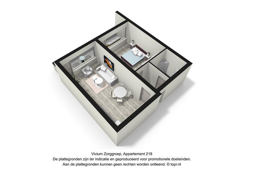 Vivium Johanneshove - 2 kamer appartement 40-49m² met balkon (218 3d)