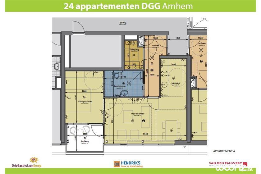 Klingelpoort plattegrond appartement A