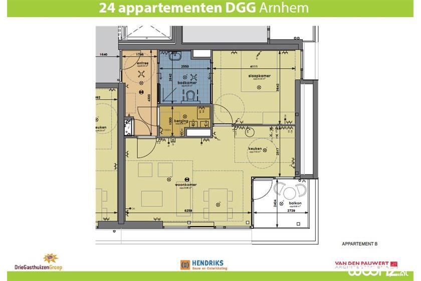 Klingelpoort plattegrond appartement B