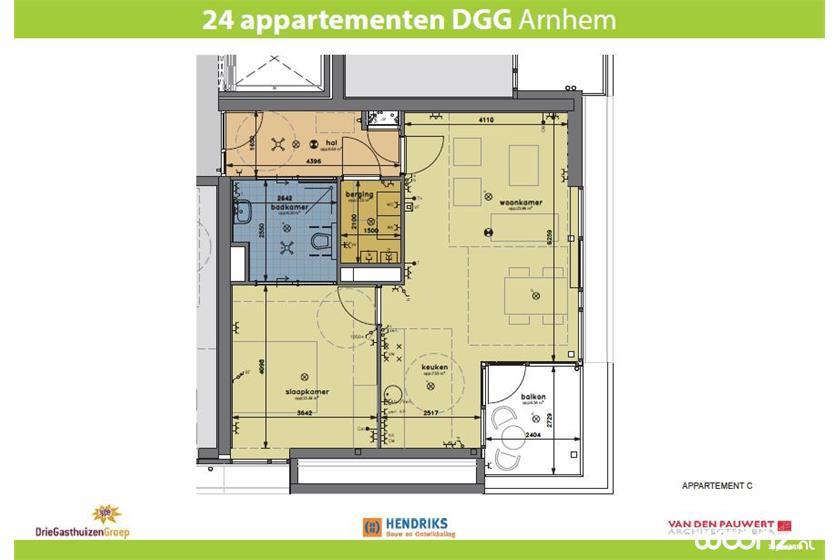 Klingelpoort plattegrond appartement C