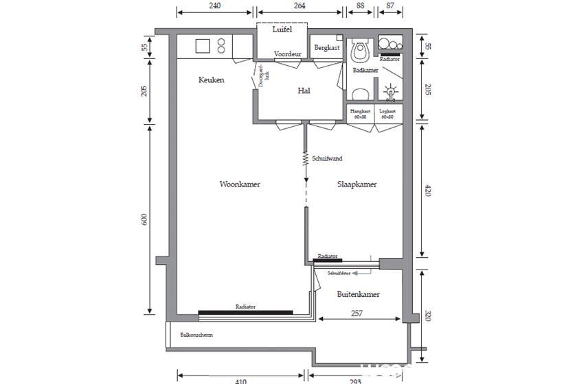 plattegrond-2-kamer-appartement-ecr-sibelius
