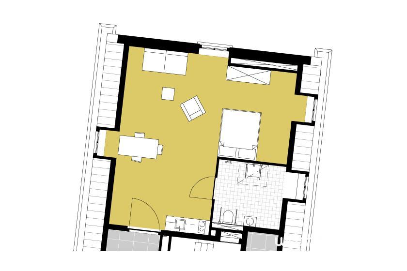 Het Seminarie - Plattegrond zolderappartement