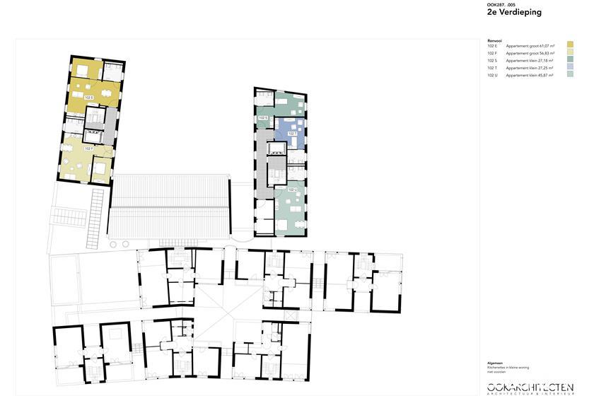 Het Seminarie - Plattegrond 2e verdieping