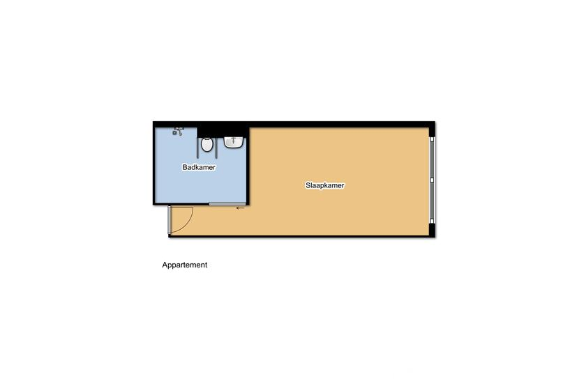 Plattegrond appartement PG
