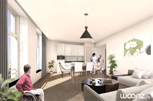Appartement met tuinzicht