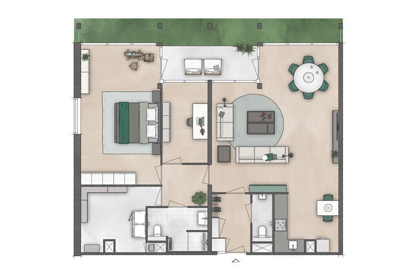 Corridor - dubbel appartement