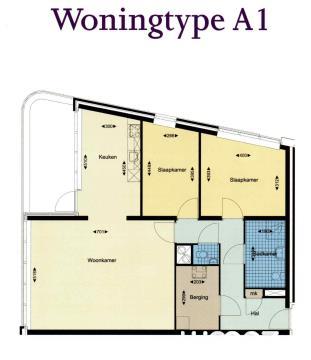 Type A1 Hoek appartement
