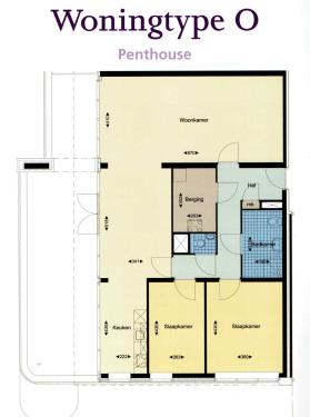 Type O Penthouse hoek appartement
